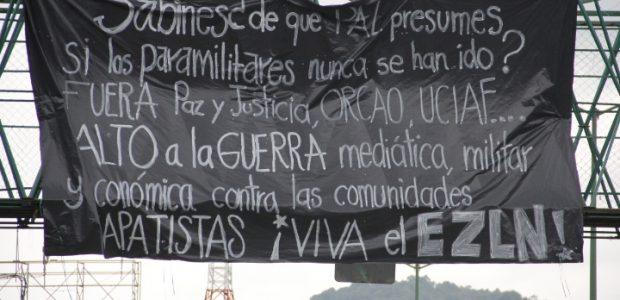 Los más recientes actos de represión en contra de las bases de apoyo zapatistas en las comunidades de Comandante Abel, Unión Hidalgo, y Moisés...