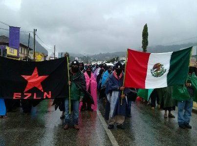 (de CML-DF) Al finalizar el 13 baktun 50 mil mayas zapatistas marchan en silencio en 5 ciudades de Chiapas San Cristóbal de las Casas, Chiapas,...