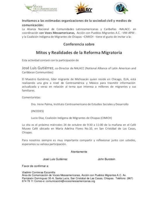 Reforma Migratoria conferencia de prensa