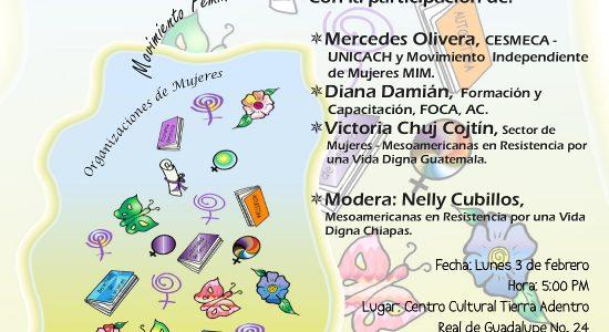 """Mesa Redonda """"El Neoliberalismo en la Vida de las Mujeres"""" Escucha las grabaciones de las participaciones en audio: · Mercedes Olivera, CESMECA – UNICACH, Movimiento..."""