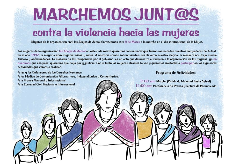 Mujeres Abejas Marcha