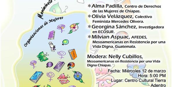"""Audios de la Mesa Rodonda """"Cuidado y Autocuidado como una propuesta politica feminista de las Mesoamericanas, que es comunitaria y que es colectiva.""""que se..."""