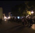 Estudiantes de la Normal Jacinto Canek, ubicada en Zinacantán, Chiapas; arribaron a la plaza de la Catedral de San Cristóbal de Las Casas al rededor...