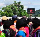 Caracol de Resistencia Hacia un Nuevo Amanecer Junta de buen gobierno El camino del futuro La Garrucha Chiapas México, 14 de agosto del 2014. A...