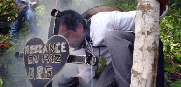 Palabra del compañero de Congreso Nacional Indígena, Armando García Salazar, del pueblo hñahñu´ de San Francisco Xochicuautla, en el homenaje al finado compañero DAVID RUIZ...
