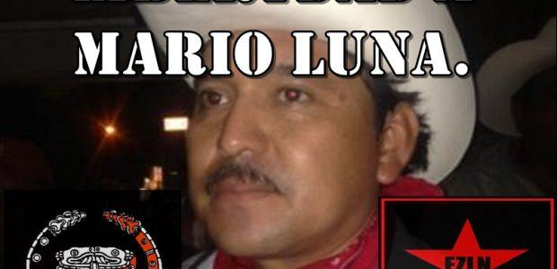 Septiembre del 2014. A LA TRIBU YAQUI: AL PUEBLO DE MEXICO: A LA SEXTA NACIONAL E INTERNACIONAL: A LOS GOBIERNOS DE MEXICO Y DEL MUNDO:...