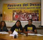 """Durante la conferencia de prensa de la campaña """"Rostros del despojo. Nuestros territorios, nuestros derechos"""", se comienzan las nuevas acciones para visibilzar y exigir justicia..."""