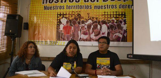 Durante la conferencia de prensa de la campaña «Rostros del despojo. Nuestros territorios, nuestros derechos», se comienzan las nuevas acciones para visibilzar y exigir justicia...