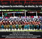 Hablando sobre el 31 aniversario de la fundación de lEjército Zapatista de Liberación Nacional (EZLN), fundado formalmente el 17 denoviembre de 1983, en la Selva...