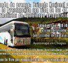 Sábado 15 nov. 18:30 hrs, oficinas del Frayba en San Cristóbal de Las Casas, Chiapas. Con la presencia de: Estudiantes de la Escuela Normal Rural...