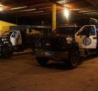 Hombres y mujeres que mantenían resguardado el campamento de los adherentes a la Sexta Declaración de la Selva Lacandona de San Sebastián Bachajón, Chiapas, tuvieron...