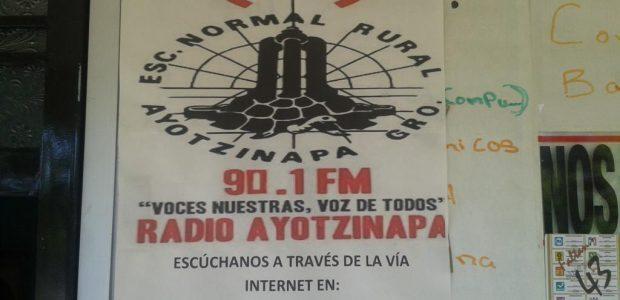 Transmitiendo en la 90.1FM desde la Normal Rural Raúl Isidro Burgos en Ayotzinapa, Tixtla, Guerrero. Por internet en http://espora.org:8000/vocesnuestras.ogg Información relacionada: [RADIO] Entrevista con Radio...