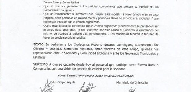 G3 Costa Pacífico Michoacán Coahuayana, Chinicuila, Aquila Coahuayana, Michoacán, 17 de noviembre de 2015 Acuerdo de cooperación de los municipios de Coahuayana, Chinicuila y Aquila...