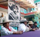 En conferencia de prensa, autoridades de la comunidad ñatho de San Francisco Xochicuautla (Estado de México) y miembrxs del Frente de Pueblos Indígenas en Defena...