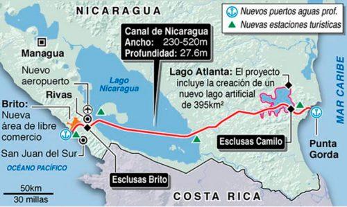 Mapa Canal Nica
