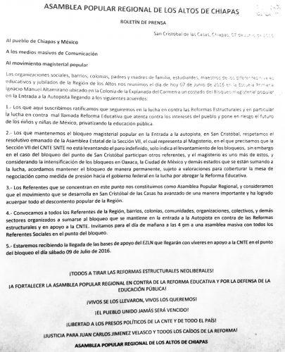 Comunicado Amblea Reg Altos Ch 070716