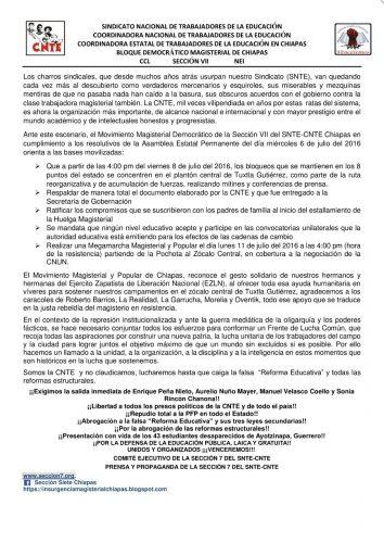Comunicado CNTE_Noche 070716_2
