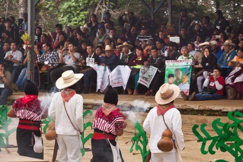 20 Aniversario CNI - 5to Congreso - Caracol II, Oventik , Altos de Chiapas, México.
