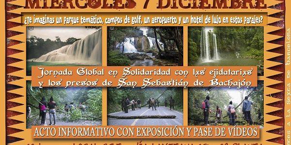 Semana de Acción Global en Solidaridadcon los ejidatarios de San Sebastián Bachajón, que se celebra del 4 al 10 de diciembre de 2016. En la...