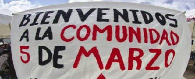 Comunidad Cinco de Marzo, tierras recuperadas y fundadas a raíz del levantamiento armado en 1994, ubicada al sur de la ciudad de San Cristóbal de...