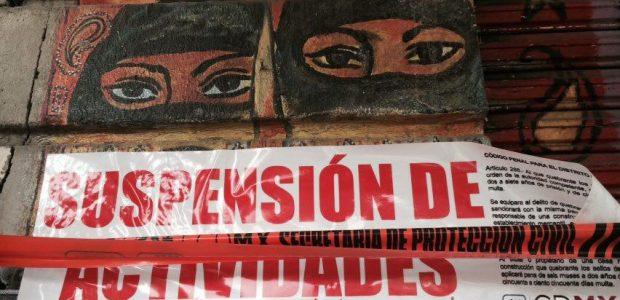 """01 feb 2017 De manera arbitraria y violenta, @ManceraMiguelMX clausura la Karakola, denuncia el espacio cultural México 1 de febrero de 2107. """"Nuestro espacio está..."""