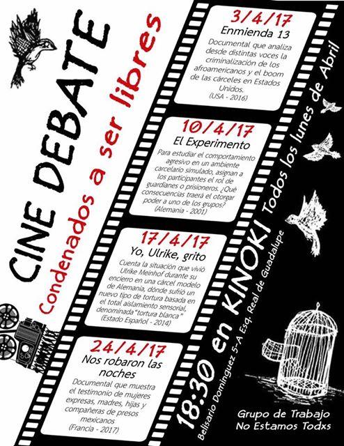 cine debate-condenadxs a ser libres