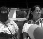La plaza central de Palenque se llenó de pueblos indígenas y campesinos y pobladores locales, protegidos por un cordón de bases de apoyo zapatistas que...